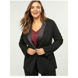 🎉HP!🎉Lane Bryant Satin Trim Ponte Knit Blazer